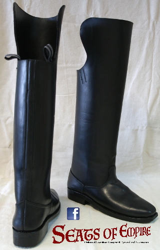 Hard cavalry boots.
